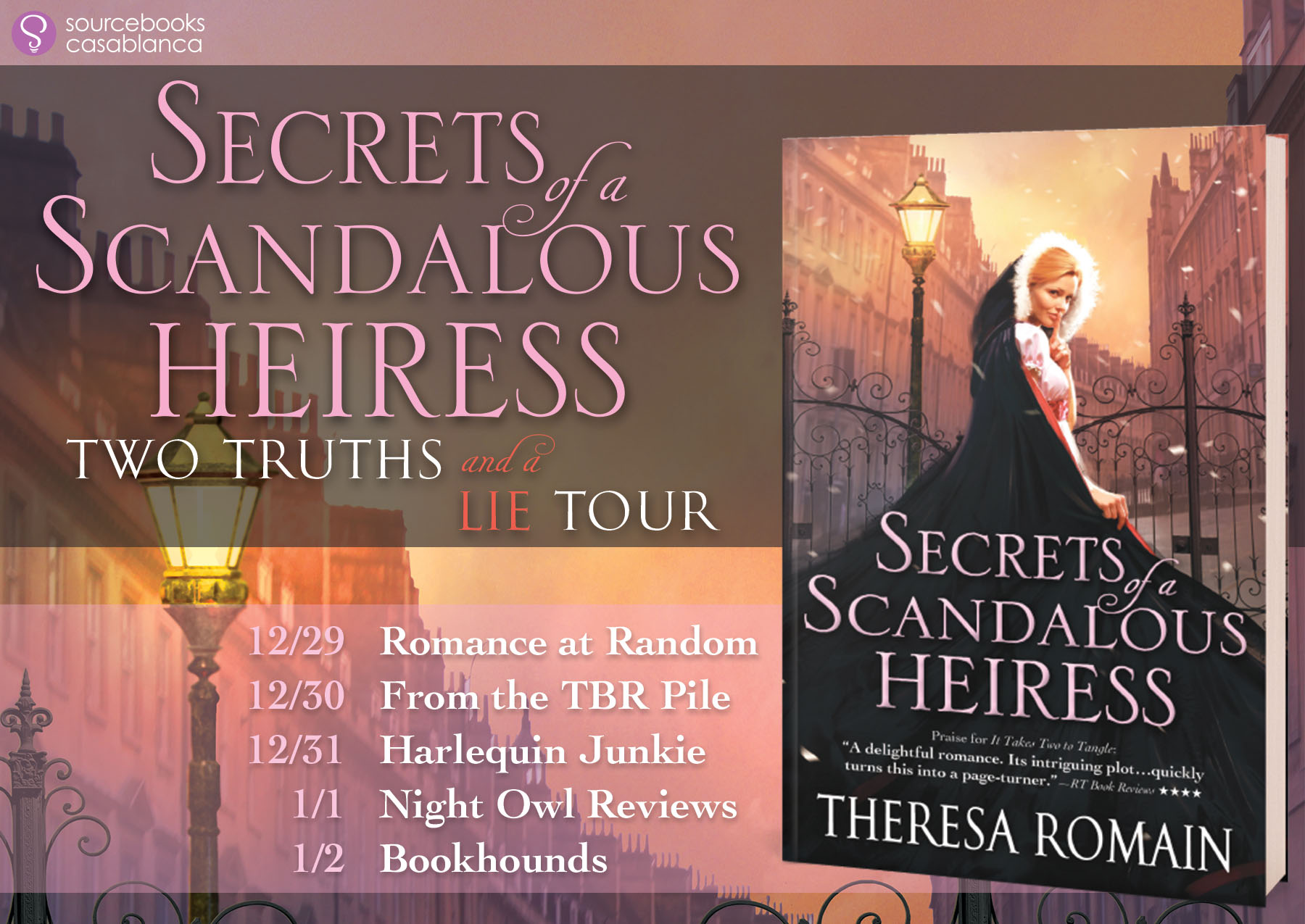 Two Truths and a Lie #ScandalousSecrets Tour #Giveaway with THERESA ROMAIN @TheresaRomain @SourcebooksCasa
