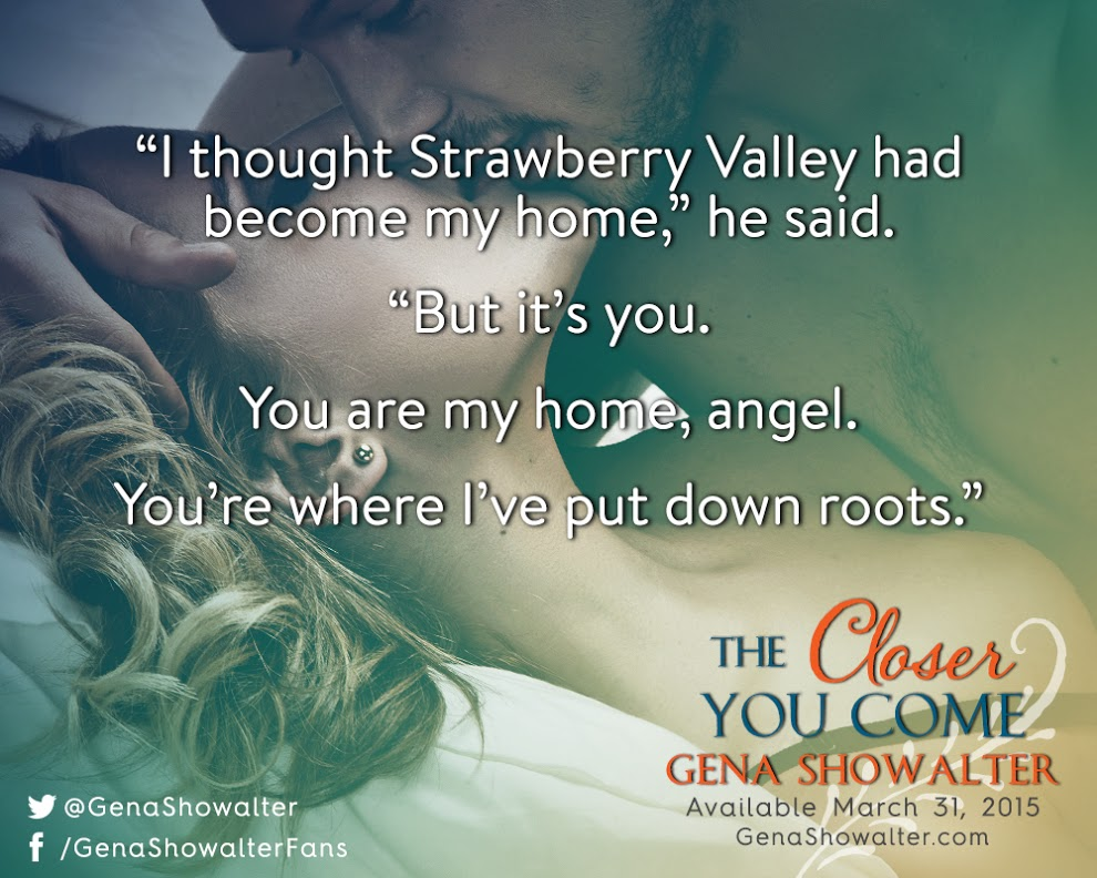 Pre Order & #win  THE CLOSER YOU COME by GENA SHOWALTER @genashowalter @HQNBooks