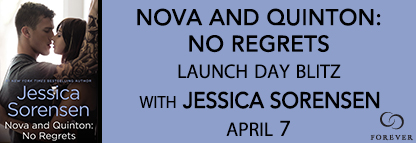 Release Day #Giveaway NOVA AND QUINTON NO REGRETS by JESSICA SORENSEN @JessFallenStar @ForeverRomance