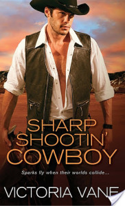 #Giveaway Interview SHARP SHOOTIN' COWBOY by VICTORIA VANE @authorvictoriav @SourcebooksCasa