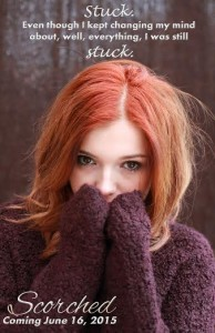 Portrait of a pretty teenage girl with redhaircovering her face with her hands