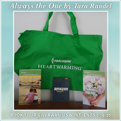 The Bridal Bouquet, The Lawman's Secret Vow, tote bag and a $25 Amazon Gift Card. (Open to US only) Prize #2: $25 Amazon e-Gift Card (Int)